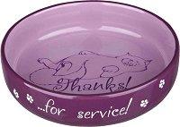 Керамична купа за храна и вода - Подходяща за котки с къси и широки муцунки - продукт