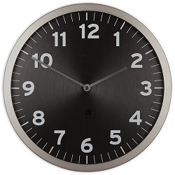 Стенен часовник Umbra - Anytime Black
