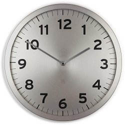 Стенен часовник Umbra - Anytime Nickel