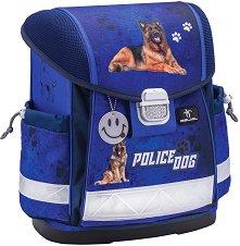 Ергономична ученическа раница - Police Dog - раница