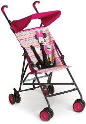 Лятна бебешка количка - Sun Plus: Minnie Geo Pink - С 4 колела - продукт