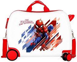 Детски куфар с колелца - Спайдърмен - С размери - 50 / 38 / 20 cm - раница