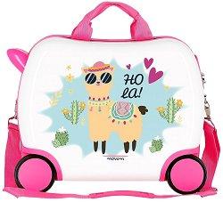 Детски куфар с колелца - Лама - С размери - 50 / 38 / 20 cm -