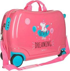 Детски куфар с колелца - Еднорог -