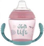 Неразливаща се чаша с мек накрайник и дръжки - Sea Life 230 ml - За бебета над 9 месеца -