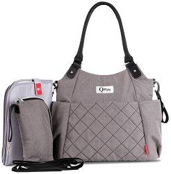 Чанта - QPlay Tote - Аксесоар за детска количка с подложка за преповиване и термобокс -