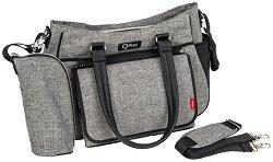 Чанта - QPlay Duo - Аксесоар за детска количка с подложка за преповиване и термобокс -