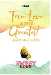 Ученическа тетрадка - Sweet Love - Формат А4 с широки редове -
