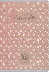 Ученическа тетрадка - Cactus Love Формат A4 с широки редове -