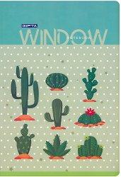 Ученическа тетрадка - Window : Формат A4 с широки редове - 60 листа -