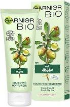 "Garnier Bio Argan Nourishing Moisturizer - Подхранващ и овлажняващ био крем за лице с арган от серията ""Garnier Bio"" - крем"