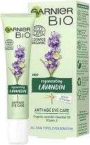 "Garnier Bio Lavandin Anti-Age Eye Care - Био околоочен крем против стареене с лавандула от серията ""Garnier Bio"" - крем"