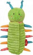 """Гъсеница - 2 в 1 - Мека бебешка играчка с дрънкалка от  """"PlayQ"""" - играчка"""