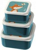 Кутии за храна - Лисица - Комплект от 3 броя - кутия за храна