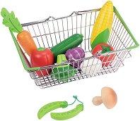 Пазарска кошница с продукти - играчка