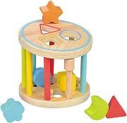 Сортер - Колело - Дървена играчка с фигури за сортиране -