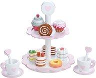 Двуетажен поднос за сладкиши - Детски комплект за игра -