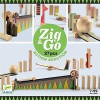 Детски дървен конструктор - Zig and Go -