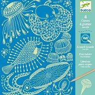 Скреч картини - Морски свят - творчески комплект