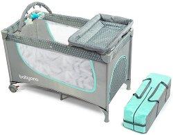 Сгъваемо бебешко легло - Комплект с повивалник и аксесоари -