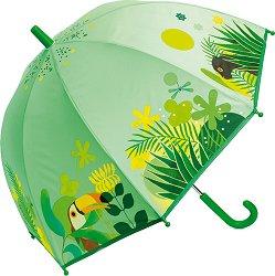 Детски чадър - Тропическа джунгла - детски аксесоар
