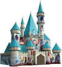 """Замъкът на Елза и Анна - 3D пъзел от серията """"Замръзналото кралство"""" -"""