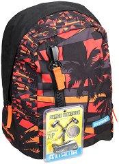 """Ученическа раница - Sunset - Комплект със слушалки от серията """"TAG Boy"""" -"""