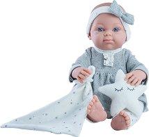 """Кукла бебе момиченце с кърпа и възглавничка - От серията """"Paola Reina: Mini Pikolines"""" -"""