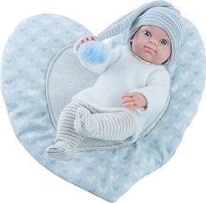 """Кукла бебе с постелка сърце - От серията """"Paola Reina: Mini Pikolines"""" - играчка"""