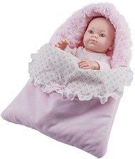 """Кукла бебе момиченце със спално чувалче - От серията """"Paola Reina: Mini Pikolines"""" -"""