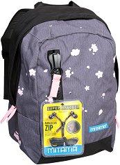 """Ученическа раница - Flower - Комплект със слушалки от серията """"TAG Girl"""" -"""