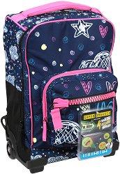Детски куфар-раница с колелца - Romantic Blue - продукт