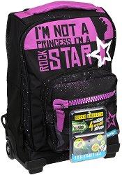 Детски куфар-раница с колелца - Rockstar - продукт