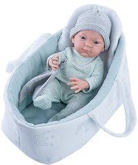 """Кукла бебе момченце с кошче и кърпа - От серията """"Paola Reina: Pikolines"""" -"""