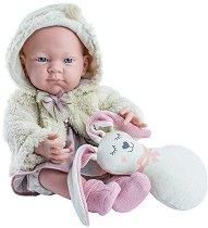 """Кукла бебе момиченце с играчка зайче - От серията """"Paola Reina: Pikolines"""" - кукла"""