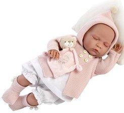 Кукла бебе Ева : Лимитирана серия - Комплект с мека играчка -