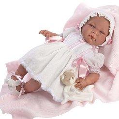 Кукла бебе Клаудия : Лимитирана серия - Комплект с мека играчка и одеяло -