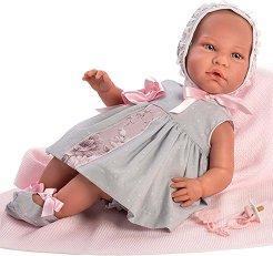 Кукла бебе Даниела : Лимитирана серия - Комплект с одеяло и биберон с клипс -