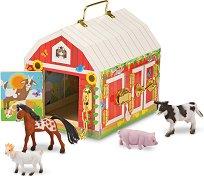 Ферма с животни - Дървен комплект за игра -