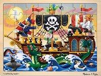 Пирати - Дървен пъзел с едри елементи -