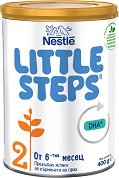 Преходно мляко - Nestle Little Steps 2 - Прахообразен продукт в метална кутия от 400 g за бебета над 6 месеца -