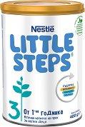 Млечна напитка - Nestle Little Steps 3 - Прахообразен продукт в метална кутия от 400 g за деца над 1 година -