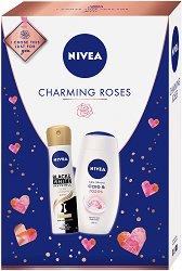 Подаръчен комплект - Nivea Charming Roses - Душ гел и дезодорант против изпотяване - продукт
