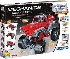 """Лаборатория по механика - Monster Truck - Образователен конструктор от серията """"Clementoni: Science"""" - продукт"""