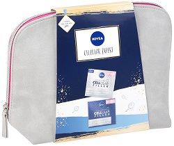 Подаръчен комплект - Nivea Expert Care - Дневен и нощен крем за лице против бръчки - лосион