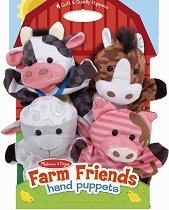 Кукли за куклен театър - Животни от фермата - играчка