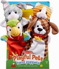 Кукли за куклен театър - Домашни любимци - Комплект от 4 броя - играчка