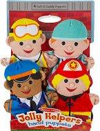 Кукли за куклен театър - Професии - Комплект от 4 броя - творчески комплект