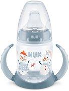 """Неразливаща се чаша с мек накрайник и дръжки - Snow 150 ml - За бебета от 6 до 18 месеца от серията """"First Choice"""" -"""
