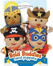 Кукли за куклен театър - Смели герои - Комплект от 4 броя -